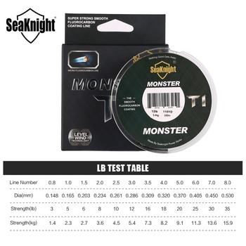 Best No1 SeaKnight MONSTER T1 100% Fishing Line Fishing Lines cb5feb1b7314637725a2e7: Clear White