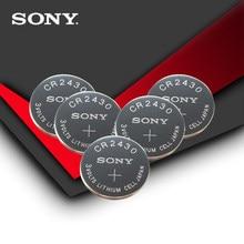 5 pc/lote Sony 100% Original CR2430 3 CR 2430 V Bateria De Lítio Botão Celular Coin Baterias Para Relógios, relógios, aparelhos auditivos
