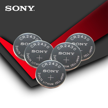 5pc/lot Sony 100% Original CR2430 CR 2430 3V Lithium Button Cell Battery Coin Batteries For Watches,clocks,hearing aids