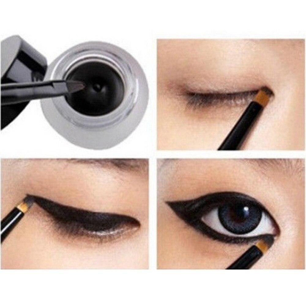 2 Pcsset Waterproof Brown Black Gel Eyeliner Makeup Cosmetic Long