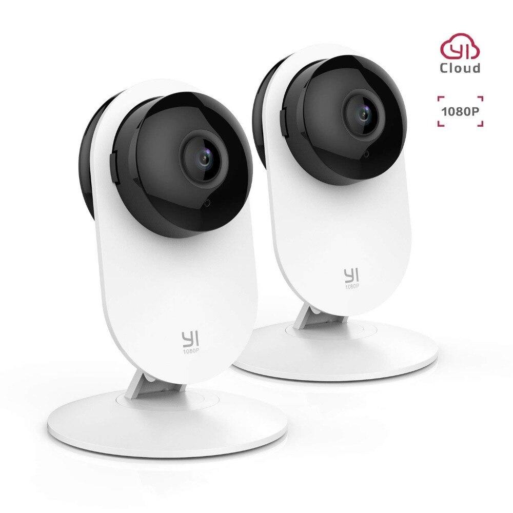 YI 2 pc 1080 p Home Indoor Camera Sistema de Vigilância de Segurança Sem Fio IP Cam Motion Detection Night Vision YI Nuvem disponível