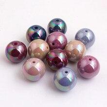 Kwoi Vita осенние цвета Акриловые сплошные круглые ab бусины для DIY браслета крупной жвачки для изготовления ожерелья 12 мм 16 мм 20 мм