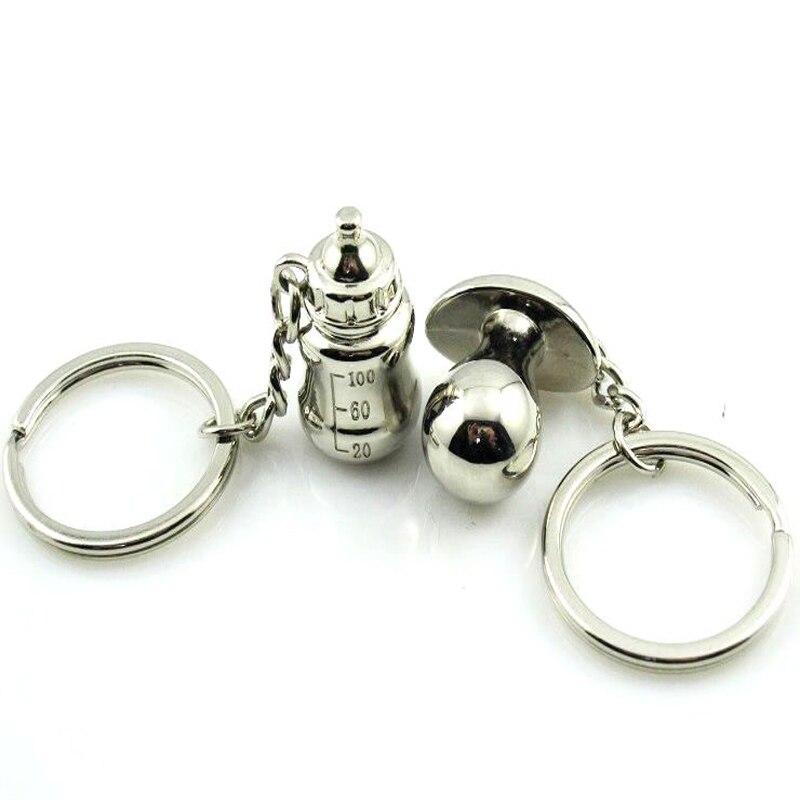 Fashion New Baby Feeder Bottle Nipple Creative Present Wedding Birthday Gifts Couple Keychains Keyring Keyfob Metal Key Chains