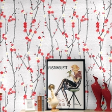 Chinese Wintersweet Wallpapers Home Decor Waterproof Vinyl Flower Wall Paper Roll Decorative Bedroom Wallpaper extra thick classical flower design home decor vinyl wallpapers