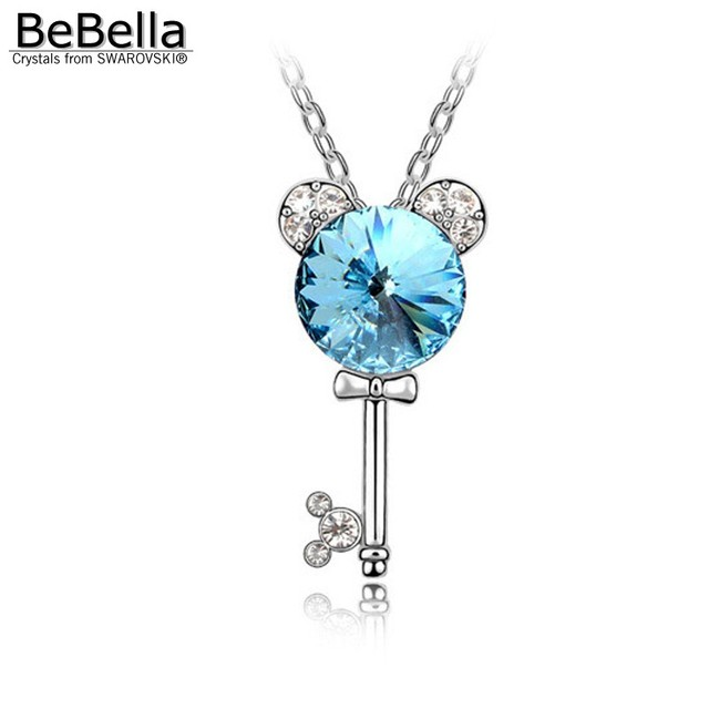 BeBella key crystal necklace fashion necklace made with Austrian crystals from Swarovski for kids jewelry gift