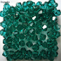 Popular Sale Blue Green 100pcs 4mm Bicone Austria Crystal Beads charm Glass Beads Loose Spacer Bead for DIY Jewelry Making