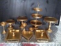 12 قطع الذهب كعكة الزفاف عرض موقف حامل cupcake pan كعكة عيد أطباق حزب الدعائم