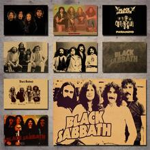 Black Sabbath band retro decorative wall sticker poster kraft paper
