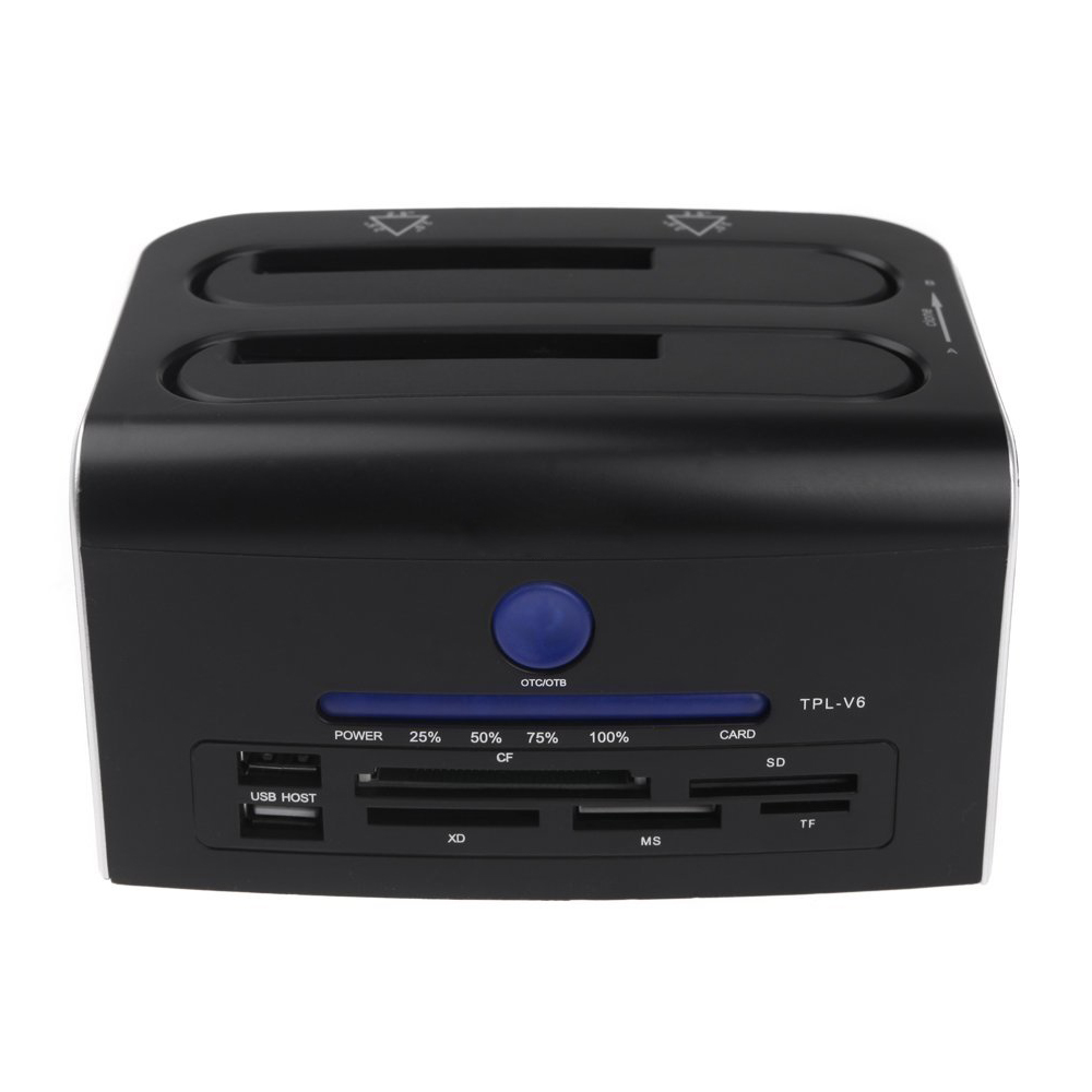 2,5-дюймовый 3,5-дюймовый Dual SATA и USB 3.0 жесткий диск Док-Док-станция USB 2.0 концентратор Ср СД хD МС TF кард-ридер США Plug