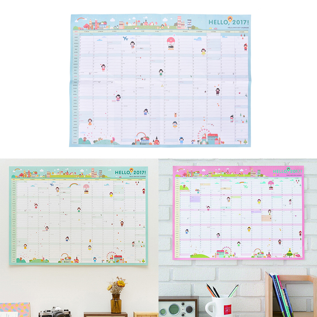 Aliexpress.com : Buy 2017 Year Plan 365 Calendar Days Schedule ...