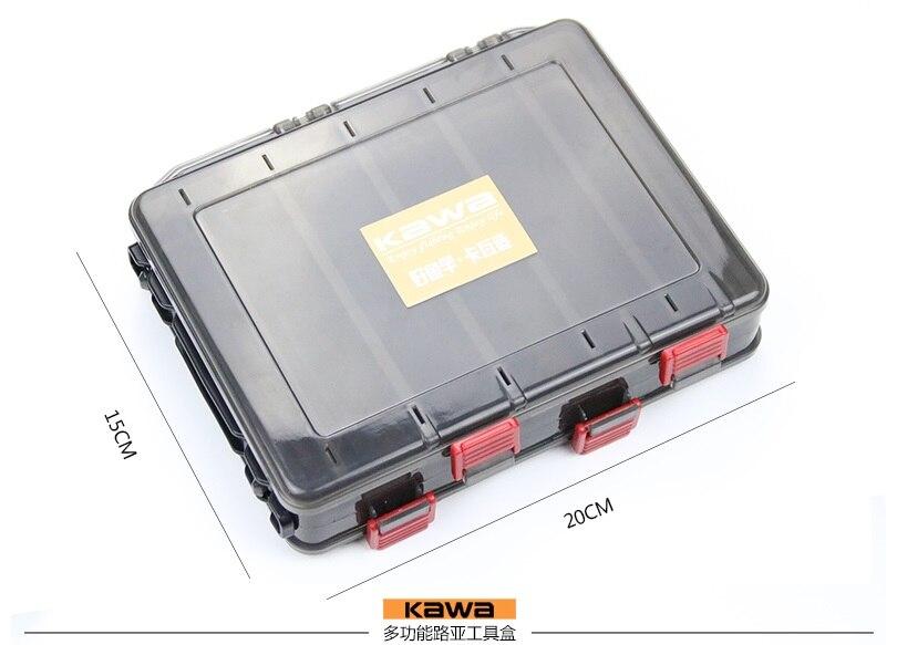 Dvostrani 14/10 odjeljci, KAWA nova smeđa kutija za ribolov, visoka - Ribarstvo - Foto 2