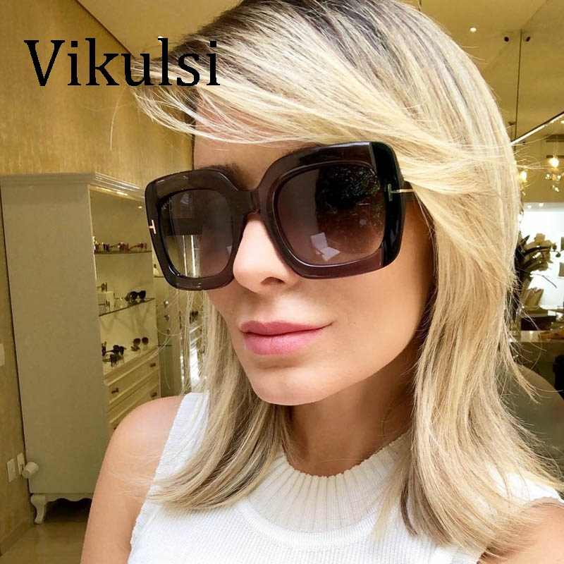 a99e51b9a5 2019 Oversized Square Sunglasses Women Trending Mens Fashion Luxury Designer  Big Frame Sunglasses Lunettes De Sol