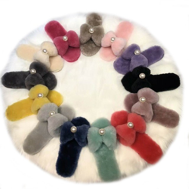 a7e552a7f Millffy-Wool-slippers-home-package-with-comfortable-New-pearl-bow-sheepskin- slippers-lovely-home-slipper.jpg_640x640.jpg