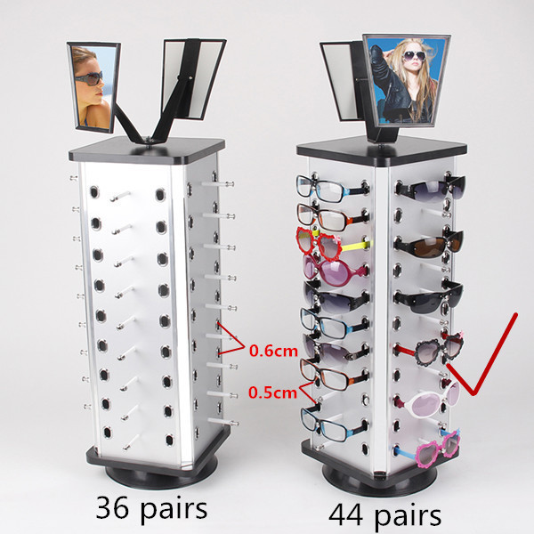 Aluminum Plastic Board Eyeglass Sunglasses Display Holder Stand For 44pairs Each Distance 0.5cm Total Height 880mm 1pc/lot aluminum plastic board eyeglass sunglasses display holder rack stand for 52pairs each distance 0 5cm total height 940mm 1pc lot