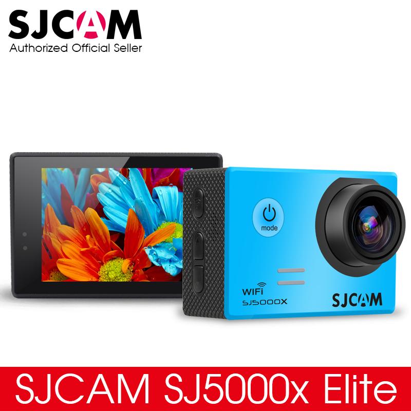 Prix pour SJCAM SJ5000X Elite WiFi 4 K 24fps 2K30fps Gyro Sport DV 2.0 LCD NTK96660 Plongée 30 m Étanche Action Caméra en option Paquet