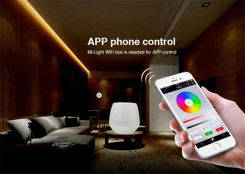 Mi lumière rvb + CCT Smart P 5 en 1 LED de contrôle intelligente DC12-24V 2.4G contrôle sans fil pour la bande de LED CCT rvb RGBW couleur unique
