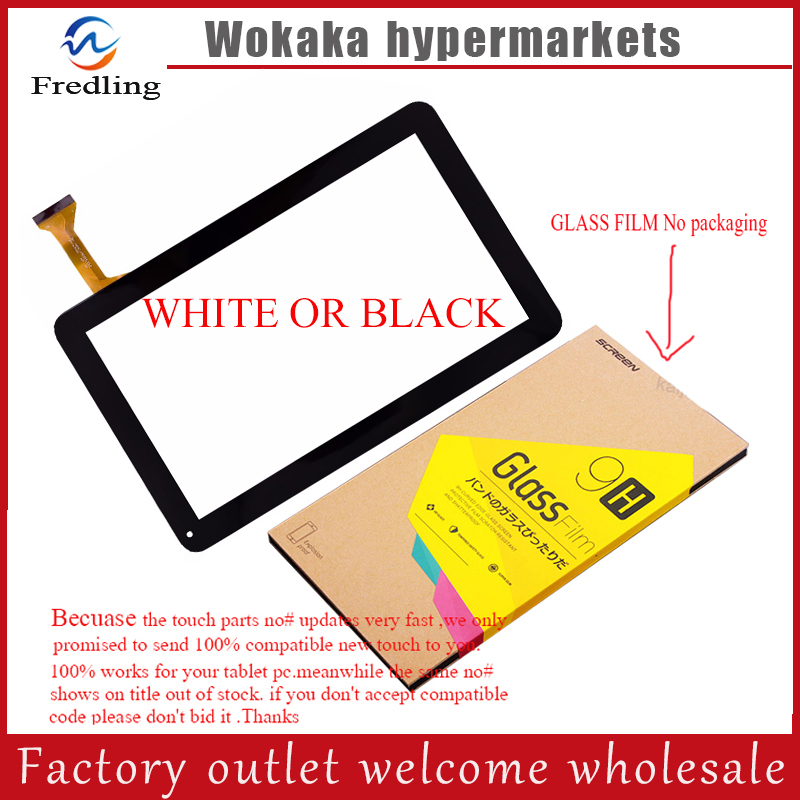 все цены на Tempered Glass Protector film+New touch screen digitizer touch panel glass sensor replacement for 10.1
