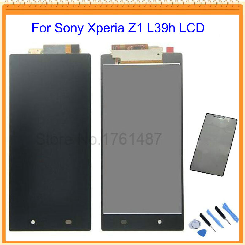 Black For Sony xperia Z1 L39H C6902 C6903 LCD Screen Display with touch screen digitizer Assembly