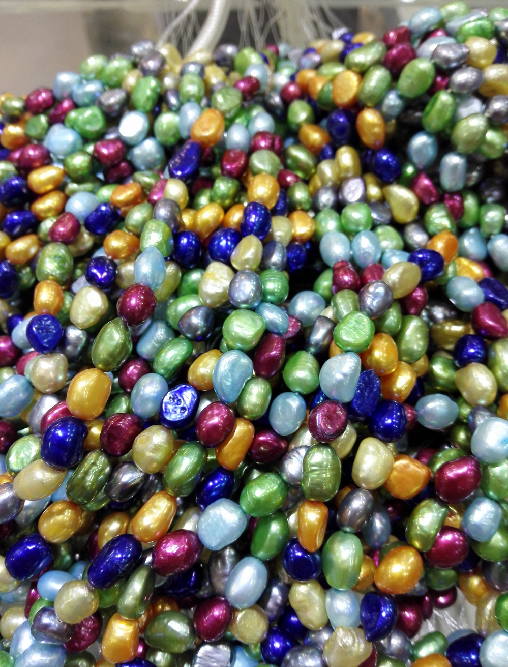 Natural Freshwater pearl 9-10MM Bright Colorful mixed baroque real pearl Loose Beads one strands 15''