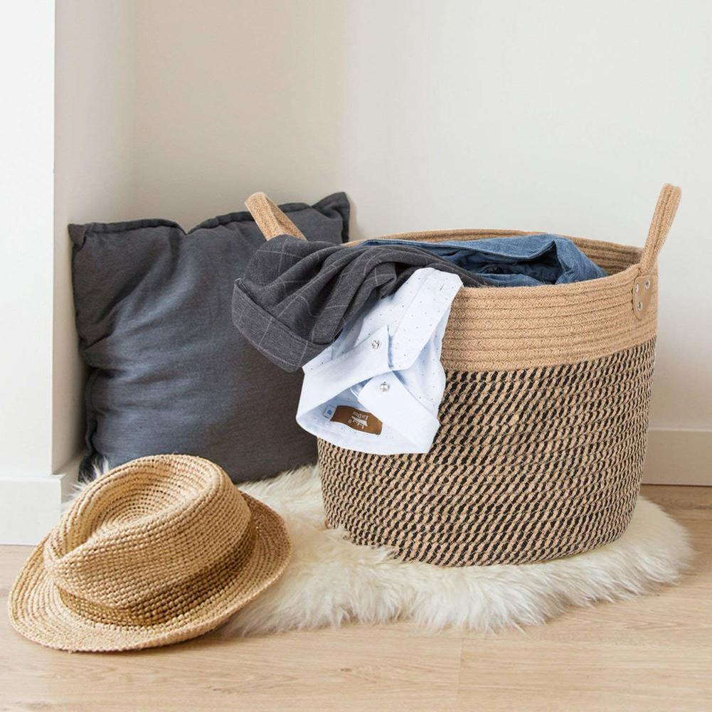 Large Basket Woven Storage With