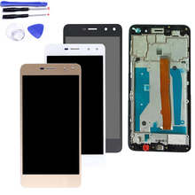 With Frame LCD 5.0 For Huawei Y5 2017 MYA-L02 MYA-L03 MYA-L22 MYA-L23 LCD Display Touch Screen Digitizer Assembly Tested цена
