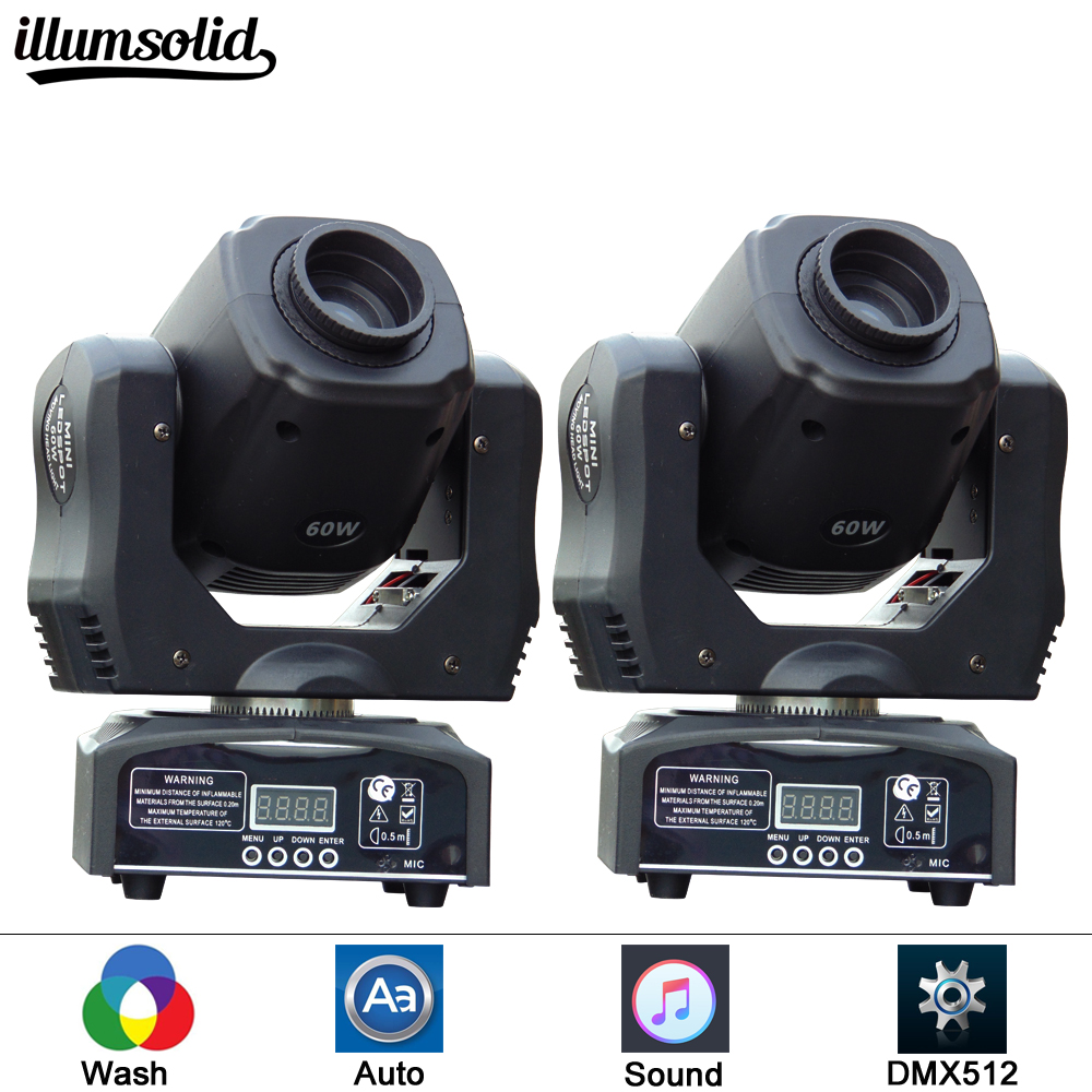 fast shipping 2pcs/lot Eyourlife LED Inno Pocket Spot Mini Moving Head Light 60W DMX dj 8 gobos effect stage lights багажники inno