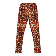 36a0a441a68b2 DOUBCHOW Womens Giraffe Skin Print Leggings Pants 2018 Maiden Juniors Girl  Costum Spandex Shiny Leggings Skinny