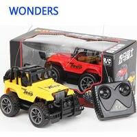 Super Juguetes 1:24 Jeep grandes coches de control remoto juguetes de coches de control remoto de $ NUMBER CANALES rc coche eléctrico para los niños regalo