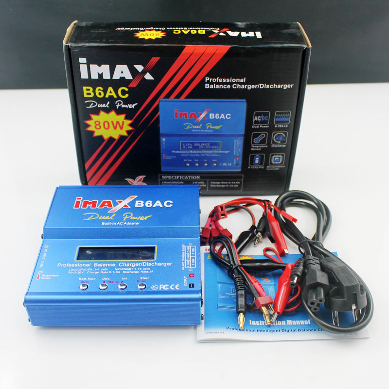 APBLP iMAX B6 AC B6AC 80 W 6A Dual RC Balance Ladegerät Lipo Lipo Nimh Nicd Batterie Mit Digital LCD Bildschirm