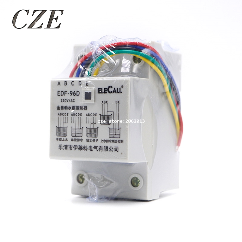 DF96D AC220V 5A Din Rail Mount Float Switch Auto Water Level Controller Liquid Level Relay Pump Tower Pool Automatic Switch stainless steel float liquid level switch water level controller liquid level automatic controller uqk 02