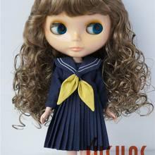 JD311 9-10 дюймов Длинные волны воздушные удары кукла парик Мода синтетические мохер BJD парики