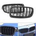 Vorne Gegrillte Grill Für BMW 3 Serie F30 F31 318i 320i 328i 2012-2018 2 Carbon Stoff ABS Kunststoff m3 Stil/Dual Lamellen Fin Linie