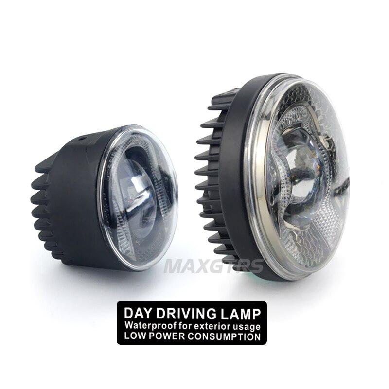 """2 х 34 Вт 2,"""" 3,5"""" Универсальный Автомобильный COB светодиодный DRL Вождения LED светильник Габаритные огни противотуманных фар белый/синий Водонепроницаемый 12 V/24 V 6000k"""