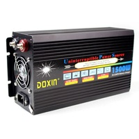 Peak 3000w Doxin 1500w car power with UPS battery charger voltage converter DC 12V/24V to AC 220V/230V/240V converter with LCD