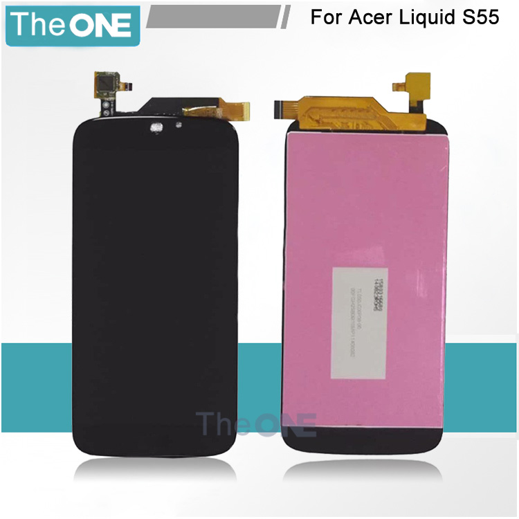100% Tested New Replacement For Acer Liquid Jade S55 LCD Display Screen With Touch Digitizer Assembly for acer liquid jade s55 lcd screen with