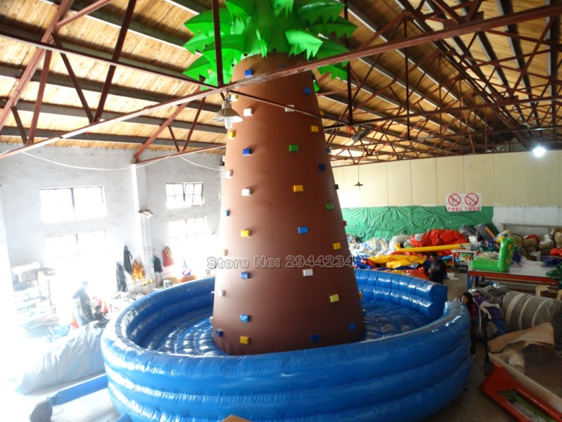 PVC commercial inflatable climbing wall for kids and adults 2017 fatory customized inflatable font b sports
