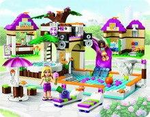 BELA Друзья Серии Heartlake Город Бассейн Строительных Блоков Классический Для Девочки Дети Модель Игрушки Marvel Совместимость Legoe