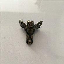Zinc Alloy Mini Angel Footing,Decoration Legs,Vintage Wooden Box,Cabinet Corner,Bronze Tone Color,30*27mm,2Pcs
