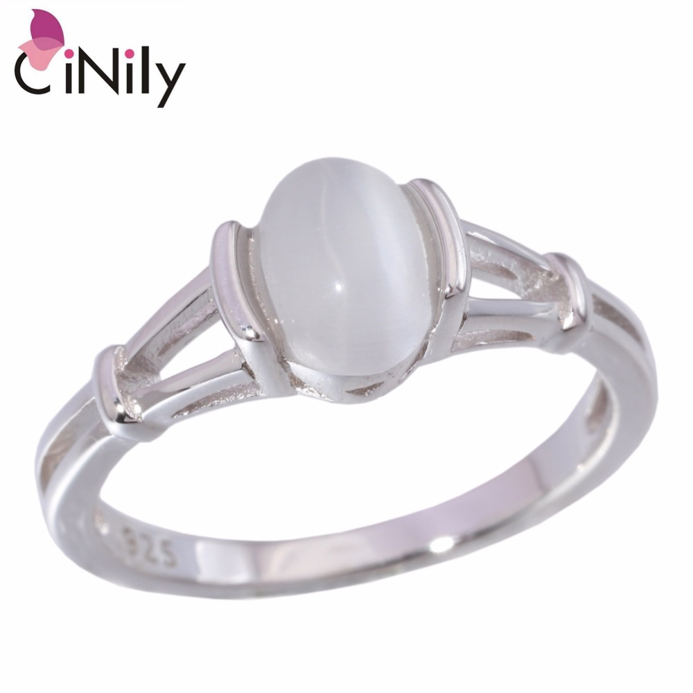 Cinily Authentic 925 Sterling Silver Latesst Twilight Bella Moonstone  Wholesale For Women Jewelry Wedding Ring