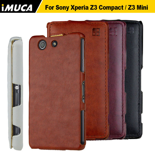 the best attitude 61305 c20b4 US $7.49 |For Sony Xperia Z3 Compact Case Cover Flip Leather Case for Sony  Xperia Z3 Compact Mini D5803 Original iMUCA Phone Cases Covers-in Flip ...