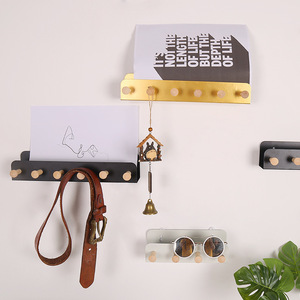 Baffect u-образная железная стойка для хранения букв деревянные крючки для ключей рельсы съемный Домашний Органайзер для хранения