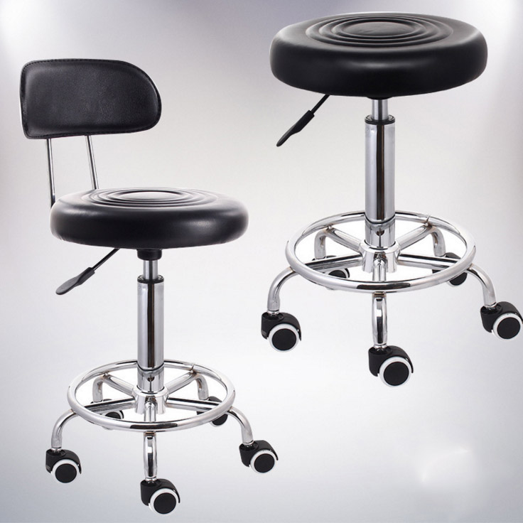 Multifunction Adjustable Barber Chairs Rolling Swivel Stool Chair Salon Spa Tattoo Facial Beauty Stools Commercial SalonFurnitue