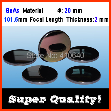 GaAs material diameter 20 mm focalize length 101.6 mm thickness 2 mm CO2 laser focalize len for laser engraver cutting Machine doumoo 330 330 mm long focal length 2000 mm fresnel lens for solar energy collection plastic optical fresnel lens pmma material