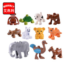 Big Building Blocks Animals Monkey Dog Fox Elephant Leapard Monkey Brown Bear Zebra Panda Tiger duploed Compatible Toys