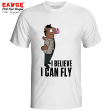 I Believe Can Fly T-shirt Funny Horseman Style Active Fashion T Shirt Creative Punk Casual Women Men Top Tee