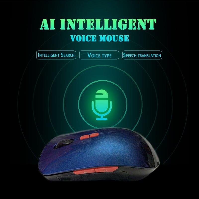 2.4G Sans Fil Intelligent De Souris Voix contrôle vocal Touche Entrée Multi-langue USB De Charge Souris DJA99