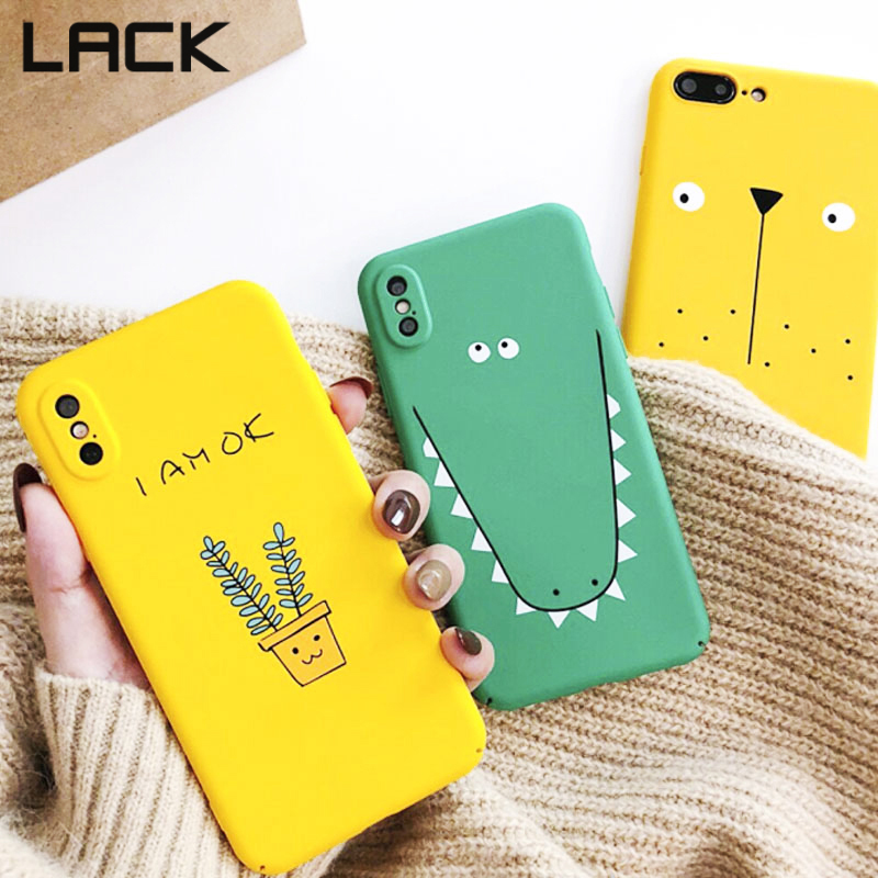 LACK Cute Cartoon Animal Phone Case For iPhone X Case For iPhone6 6S 7 8 Plus Fashion Funny cactus strawberry pineapple Coverage