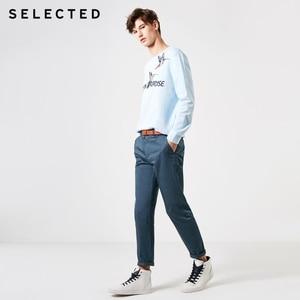 Image 2 - נבחר 100% כותנה רקום גברים של אביב סוודר נים גברים של עגול מחשוף סווטשירט בגדי S