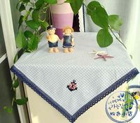 Pink petty bourgeoisie plaid 100% light blue jacquard cotton table cloth gremial towel cover tablecloth
