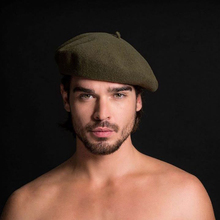 Men's Winter Wool Beret Octagon Hat French Artist Hat For Ma